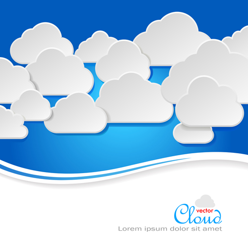 Business social template with cloud backgrounds 04 free