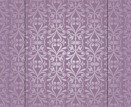 Purple floral ornament pattern backgrounds vector 04 free