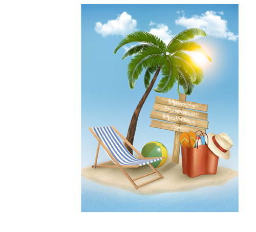 Summer holidays happy travel background vector graphic 03 free