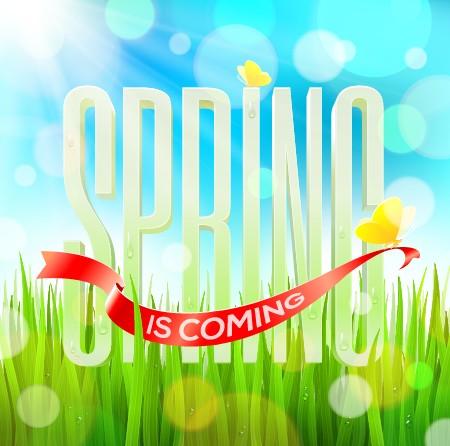 Shiny spring elements vector background set 05 free