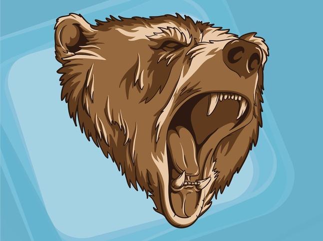 Bear Head vector free