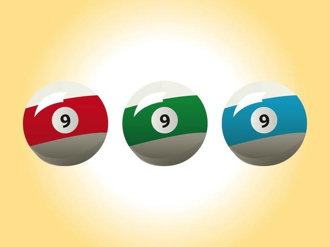 Billiard Balls Vectors free