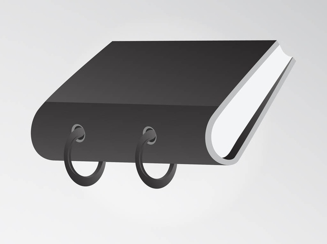Black Office Binder vector free