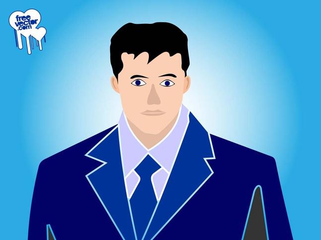 Businessman Portrait vector free