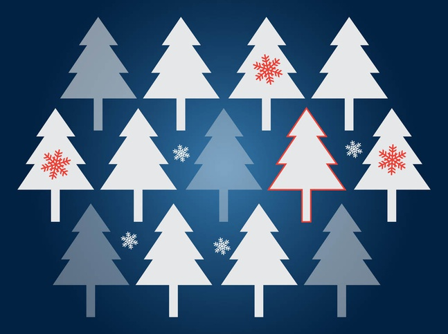 Christmas Trees Vector Background free