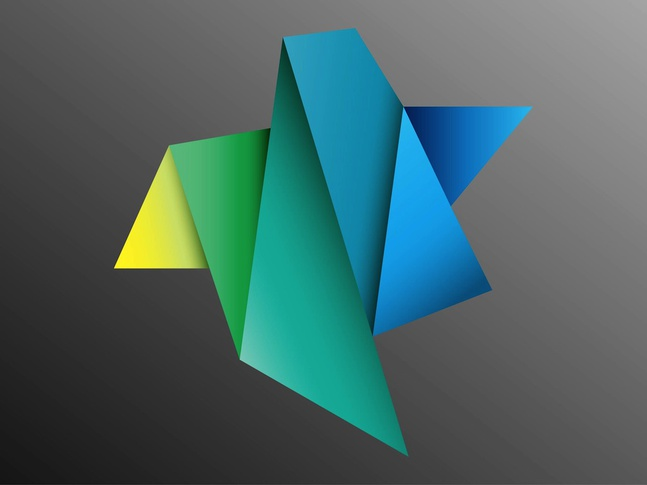 Colorful Folded Paper vector free