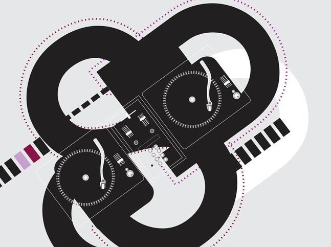 DJ Deck Background vector free