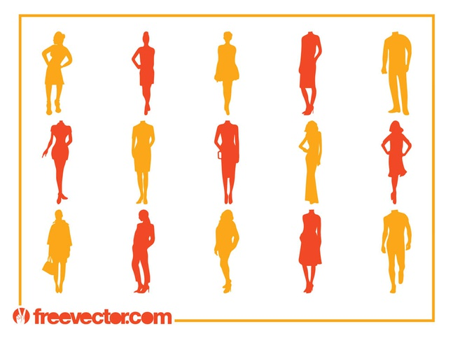 Fashion Silhouettes Vectors free
