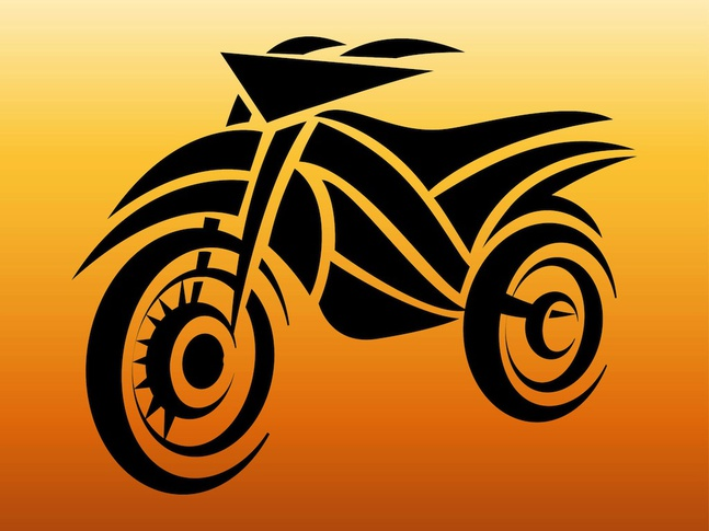 Motorcycle Tattoo vector free