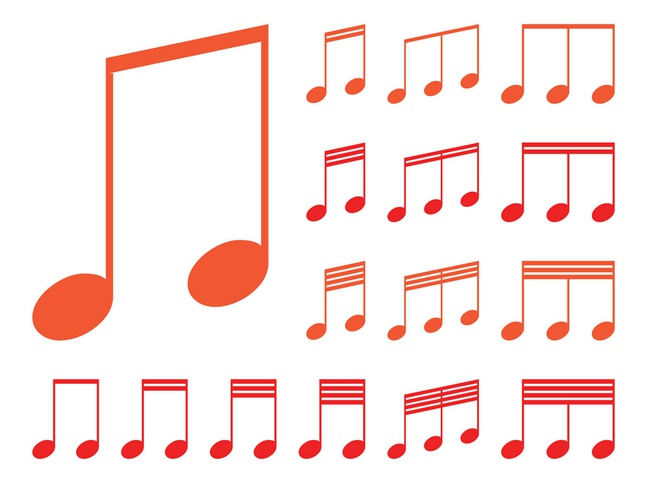 Musical Notes Graphics vector free