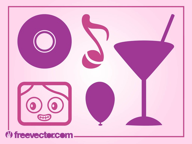 Party Icons Vector free