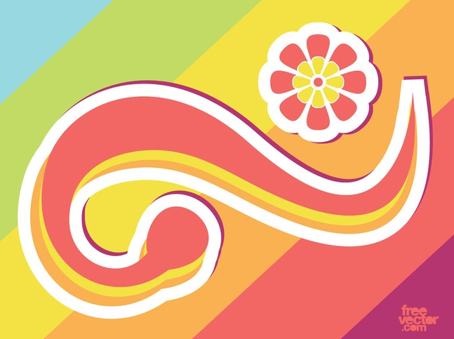 Scroll Sticker vector free