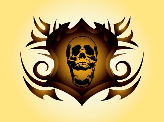 Skull Shield Vector free