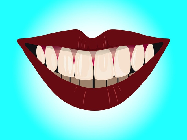 Smile With Teeth vector free