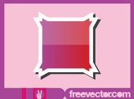 Shiny Sticker Design vector free