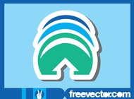 Sticker With Arrow vector free