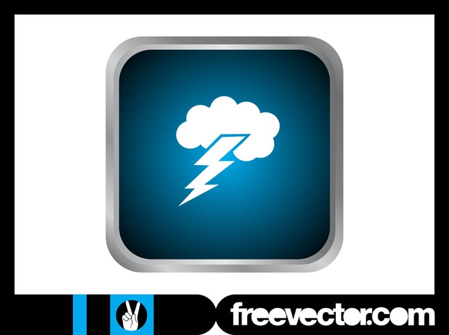 Thunderstorm Icon Graphics vector free