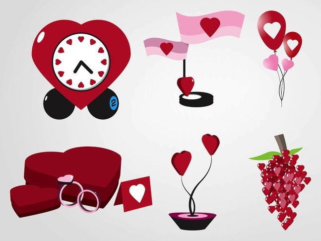 Valentine's Day Gifts vector free