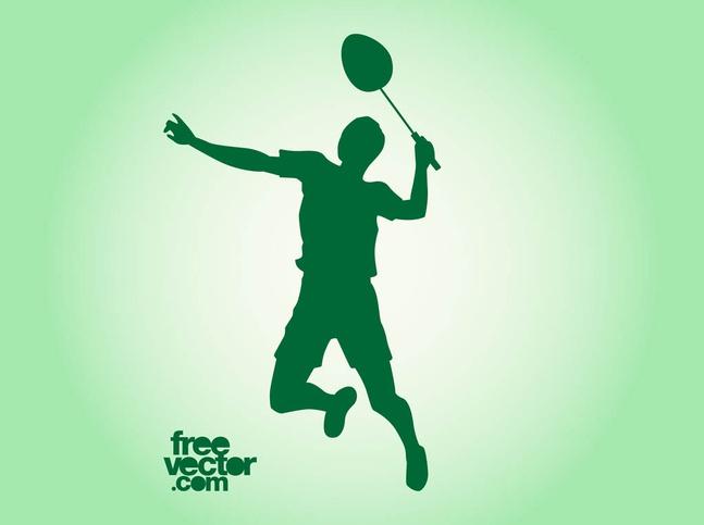 Vector Badminton Player free