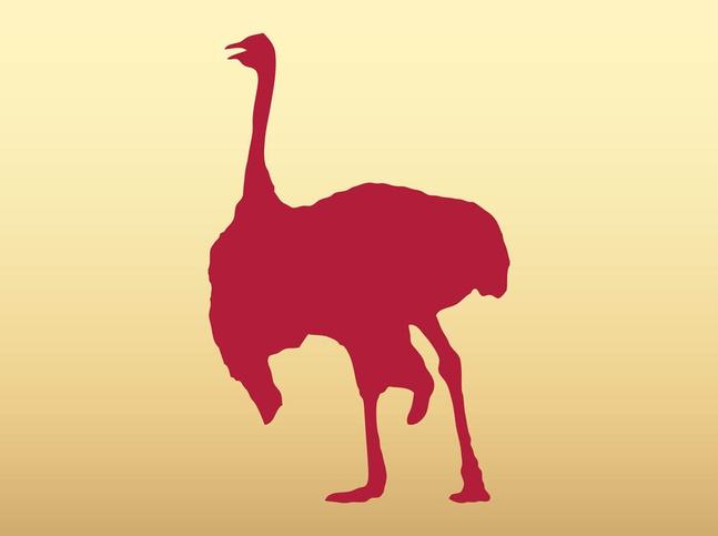 Walking Ostrich vector free