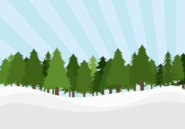 Pine Trees Landscape vector free