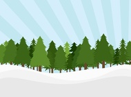 Pine Trees Landscape vector free