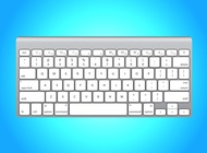 White Apple Keyboard vector free
