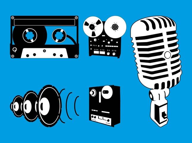 Audio Equipment Graphics vector free