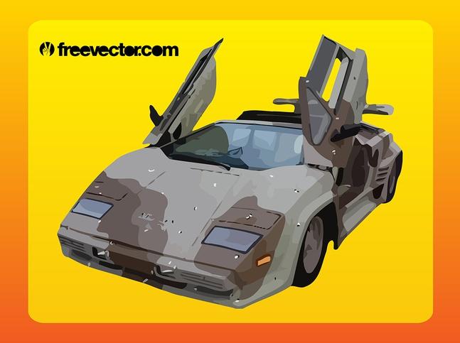 Camouflage Lamborghini vector free