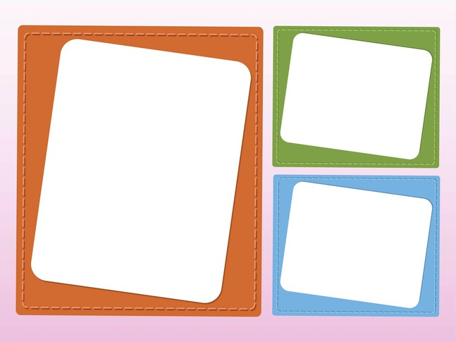 Colorful Cards vector free
