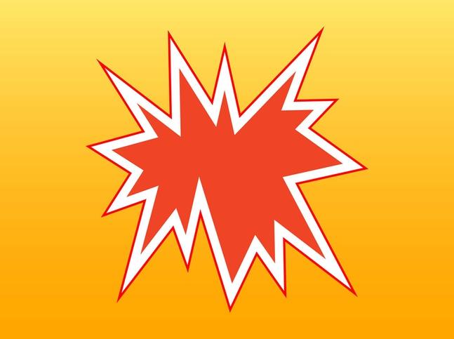 Comic Book Explosion vector free