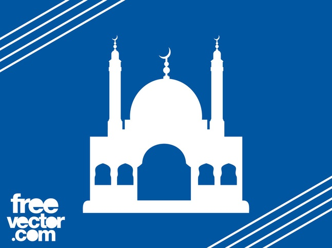 Mosque Silhouette Graphics vector free