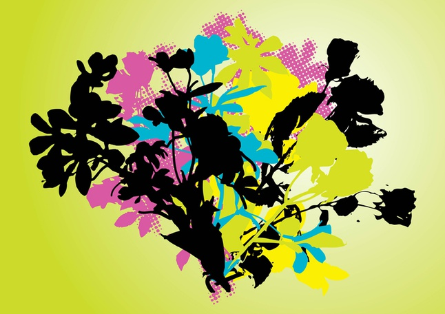 Nature Pop Art vector free