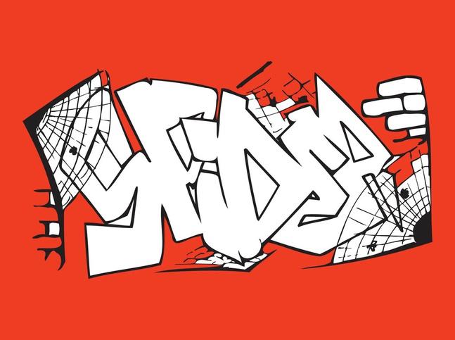 Spider Graffiti vector free