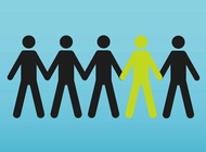 People Holding Hands vector free