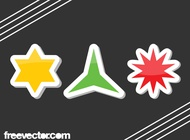 Star Stickers vector free