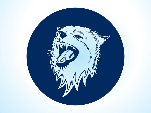 Vector Wolf Icon free
