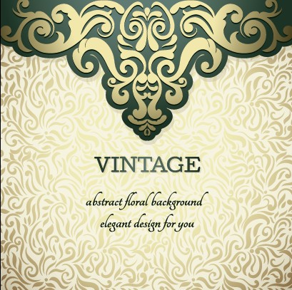 Vintage ornate ornaments pattern background art 04 free