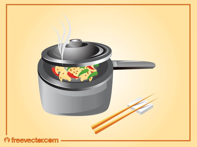 Asian Cooking vector free