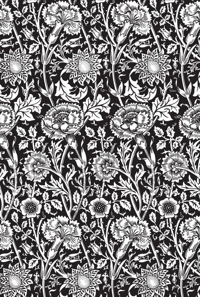 Black Flower Background vector free