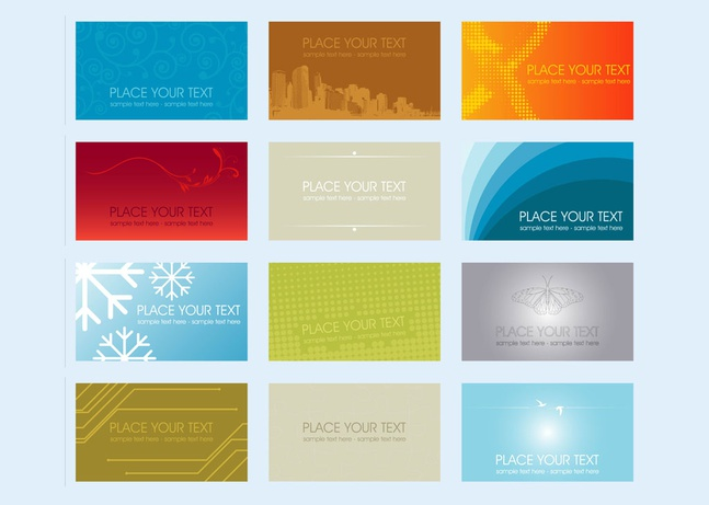 Business Cards vector free
