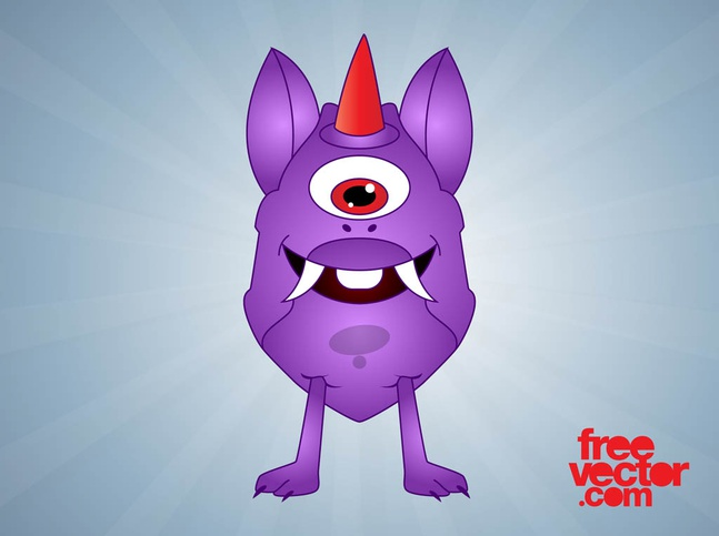 Cartoon Monster Graphics vector free