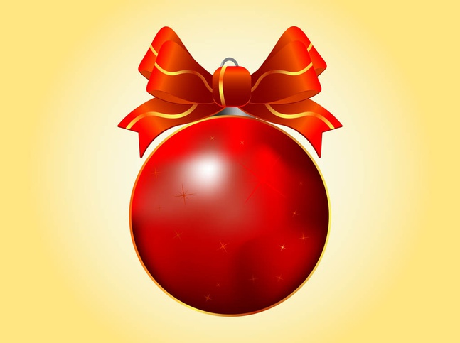 Christmas Ball vector free