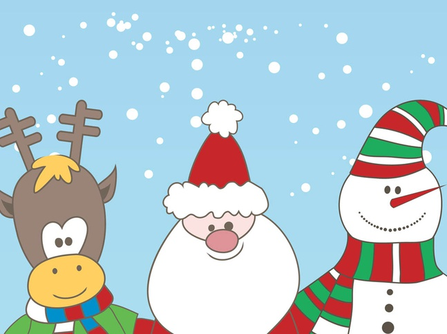 Christmas Characters Vector free