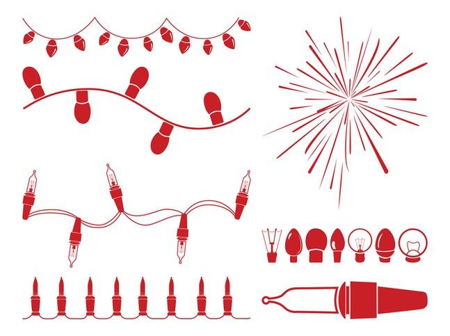 Christmas Lights Graphics vector free