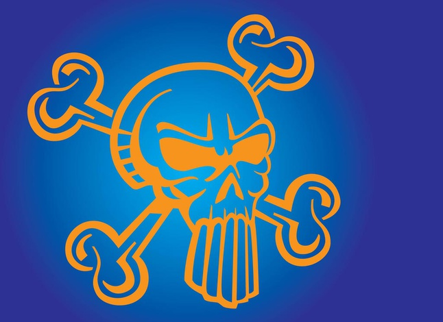 Cool Skull Cartoon vector free