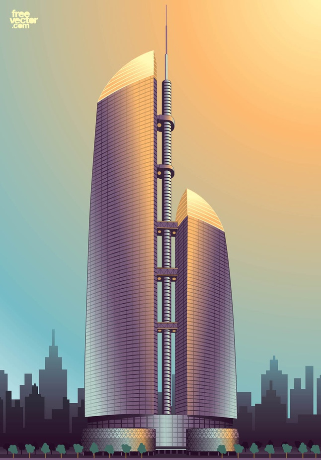 Federation Tower vector free