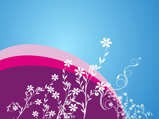 Flowers Decoration vector free