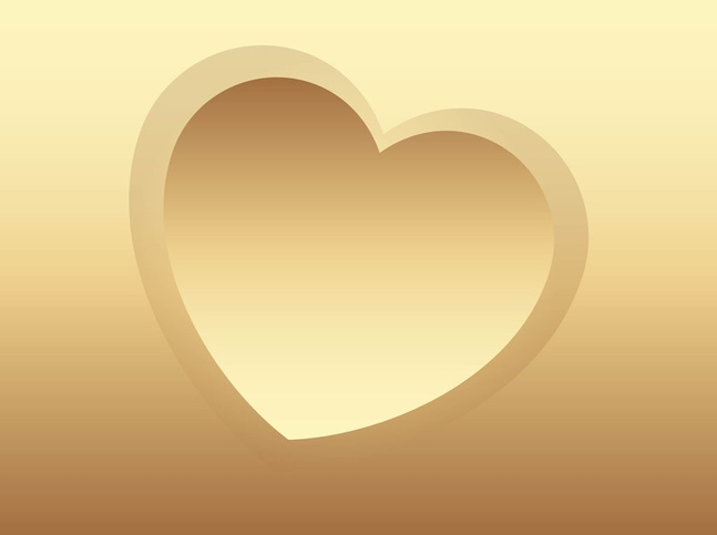 Golden Heart vector free