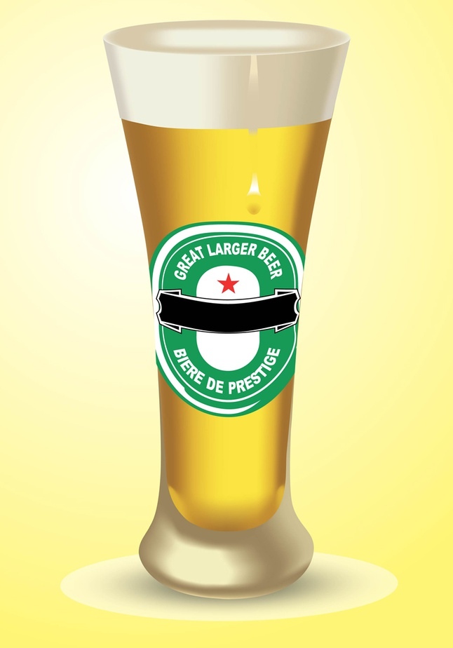 Large Beer vector free